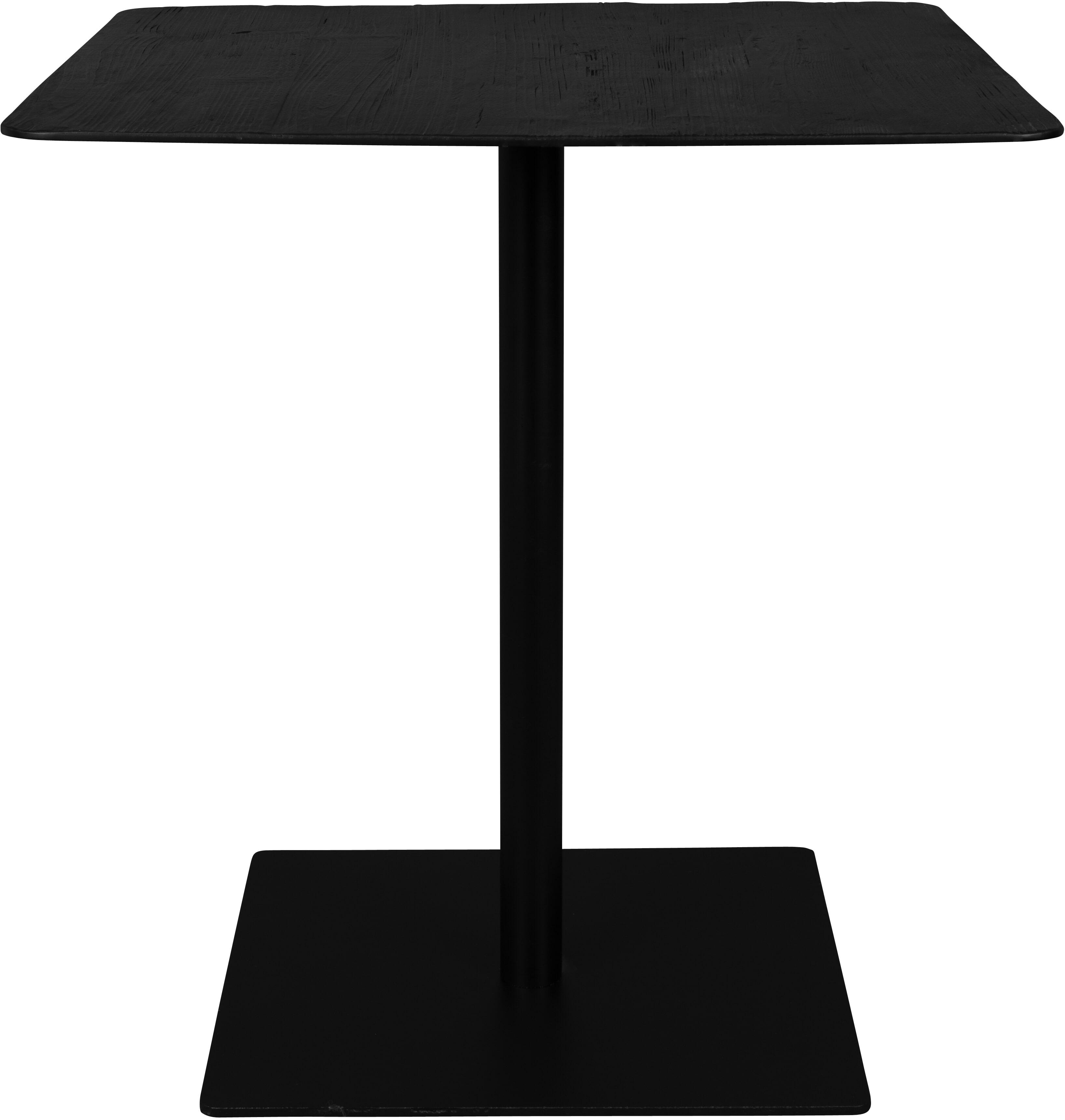 Dutchbone Vierkante Bistrotafel 'Braza' 70 x 70cm, kleur Zwart