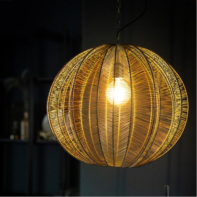 By-Boo Hanglamp 'Floss' 53cm, kleur Brons