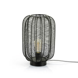 By-Boo Tafellamp 'Carbo' 24cm, kleur Zwart