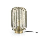 By-Boo Tafellamp 'Carbo' 24cm, kleur Brons