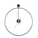 By-Boo Wandklok 'Sundial' 70cm, kleur Zwart