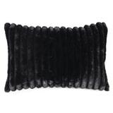 By-Boo Kussen 'Wuzzy' 40 x 60cm, kleur Zwart