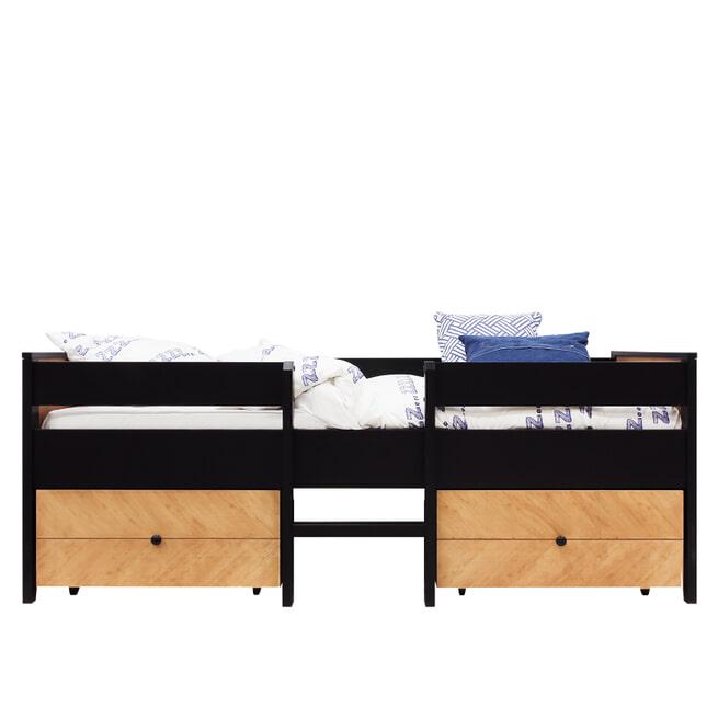 Bopita Bed 'Job' 90 x 200cm Vintage Honey, kleur zwart