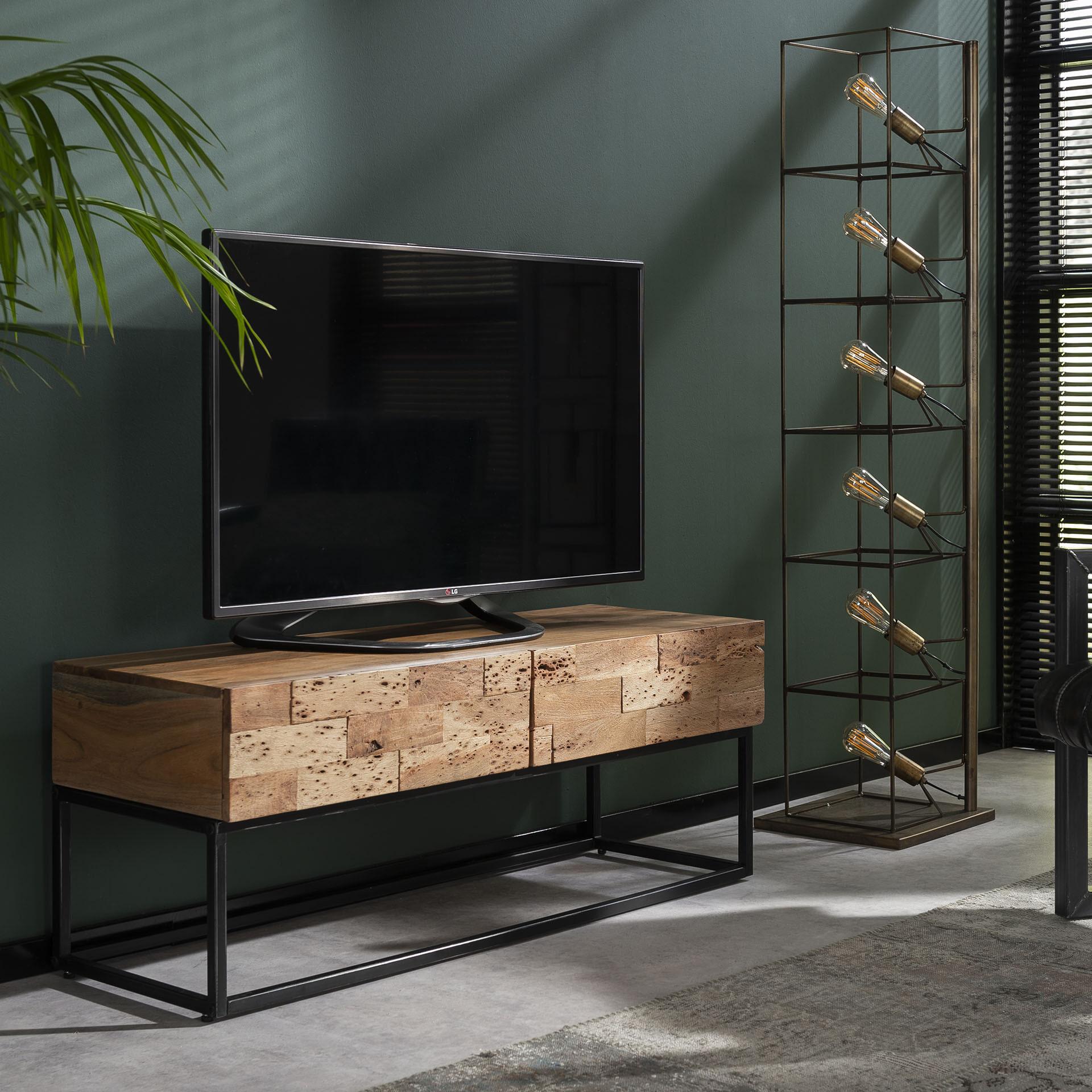 Industrieel TV-meubel 'Mill' 120cm Kasten | Tv-Meubels & Tv-Kasten vergelijken doe je het voordeligst hier bij Meubelpartner