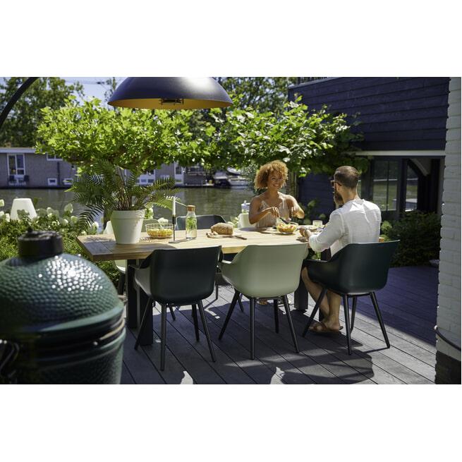 Hartman Tuinstoel 'Sophie Studio' met armleuning, kleur Donkergroen