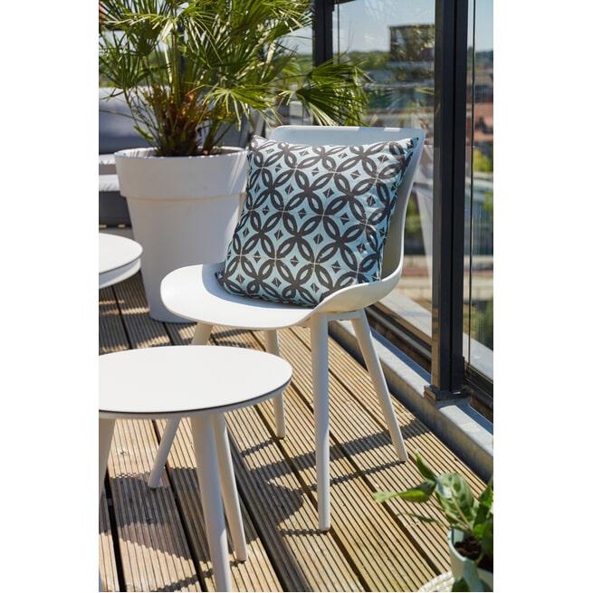 Hartman Outdoor Ronde Bistrotafel 'Sophie' HPL, 45 x 45cm, kleur Wit