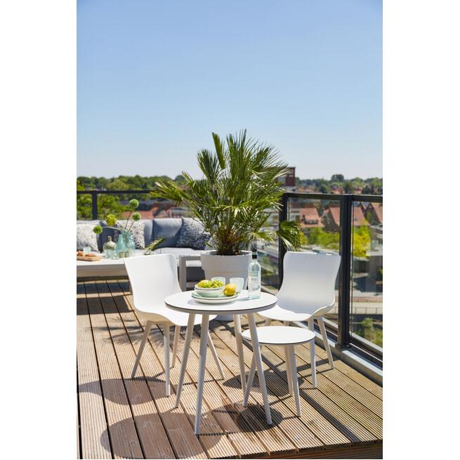 Hartman Outdoor Ronde Bistrotafel 'Sophie' HPL, 66cm, kleur Wit