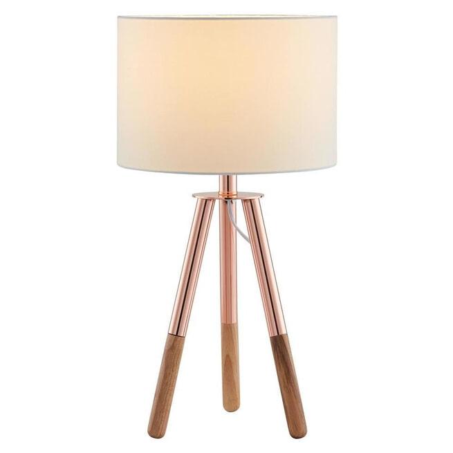 Artistiq Tafellamp 'Chad', 55cm, kleur Wit