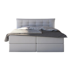 Artistiq Bed 'Gerard', 196 x 210 x 100cm, kleur Wit
