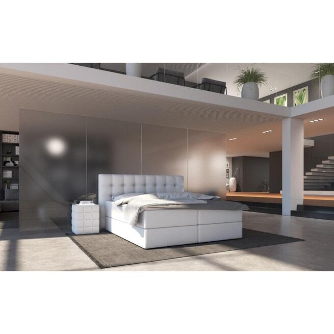 Artistiq Bed 'Penelope', 216 x 210 x 100cm, kleur Wit