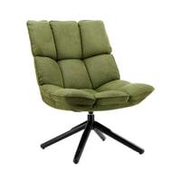 Sohome Draaifauteuil 'Hanne' kleur groen