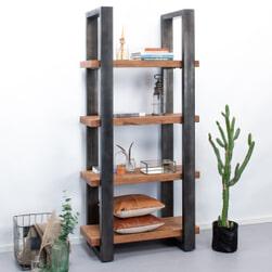 Eleonora Boekenkast 'Rayan' Industrieel, 94 cm