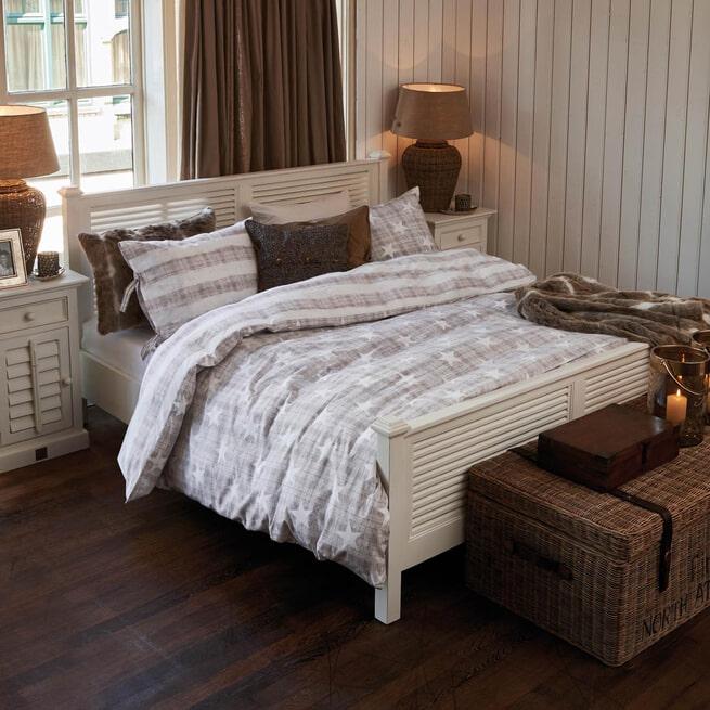 Rivièra Maison Bed 'New Orleans' 180 x 200cm, kleur Wit