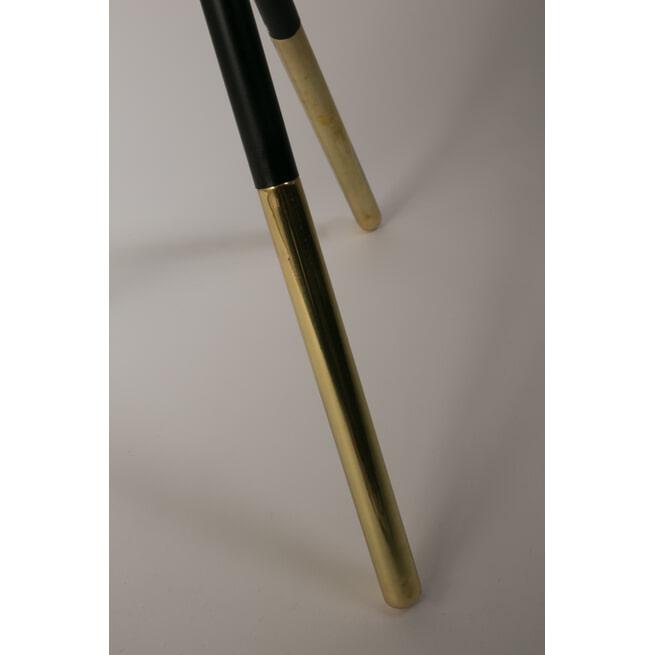 Dutchbone Bijzettafel 'Elia' Zwart/Brass, 37cm