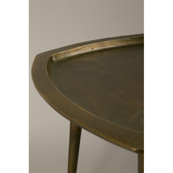 Dutchbone Bijzettafel 'Abbas' Brass, 45cm