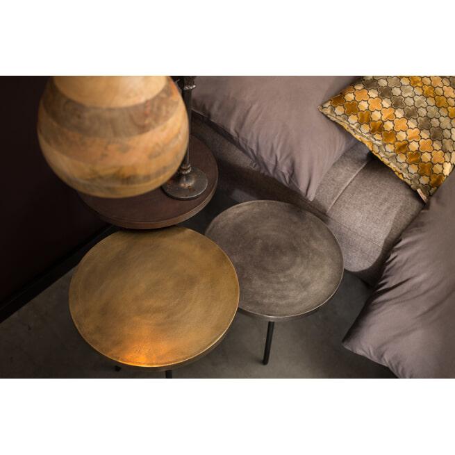 Dutchbone Bijzettafel 'Alim' set van 3 stuks