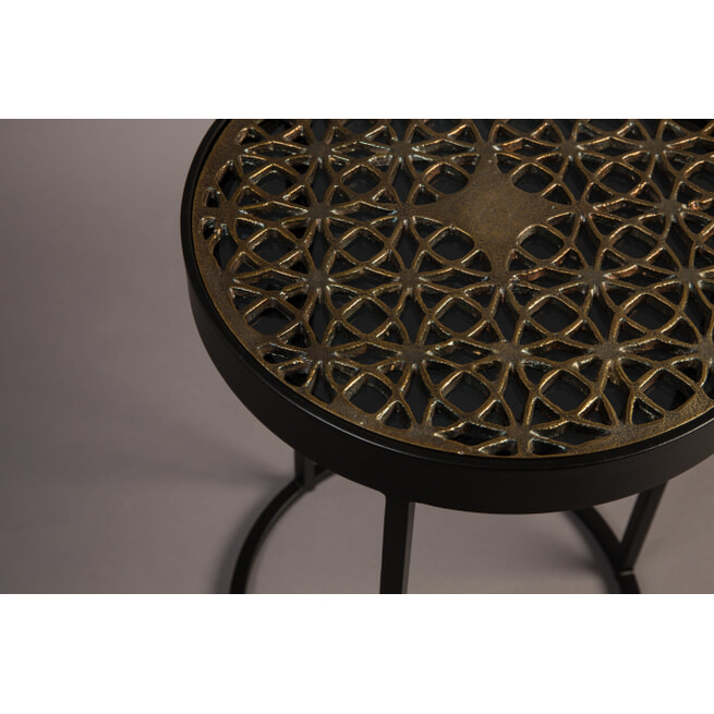 Dutchbone Bijzettafel 'Sari' Antique Brass, 33cm