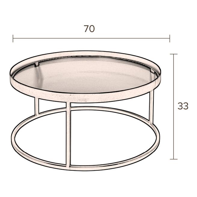 Dutchbone Salontafel 'Boli' 70cm