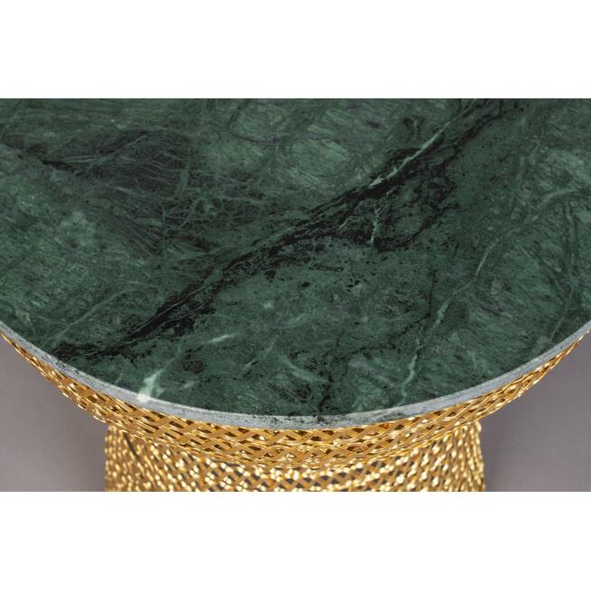 Dutchbone Bijzettafel 'Gauri', Marmer, 47cm, kleur Groen
