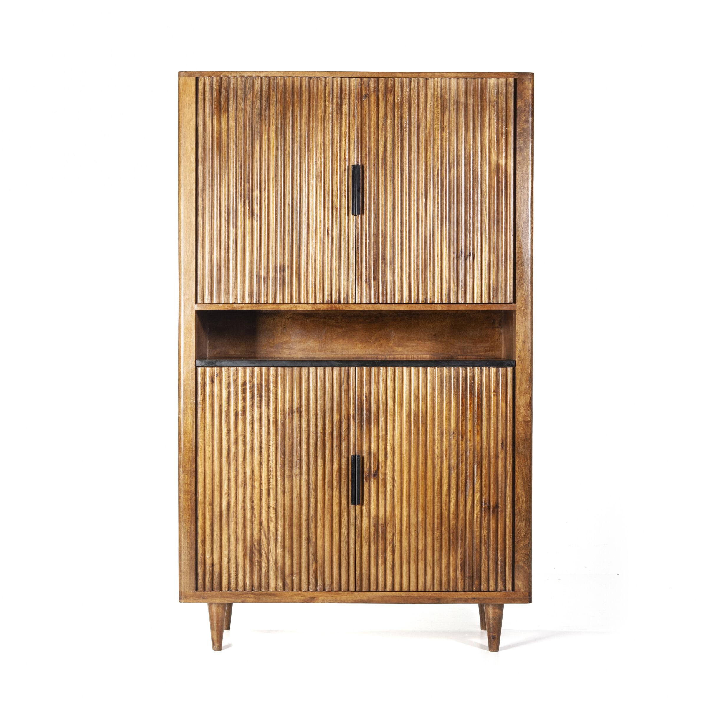 Eleonora Opbergkast 'Carter' Mangohout en marmer, 172 x 105cm met voordeel snel in huis via Meubel Partner