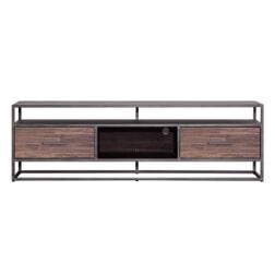 Eleonora TV-meubel 'Hudson' 185cm, Acaciahout en metaal, kleur bruin