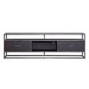 Eleonora TV-meubel 'Hudson' 185cm, Acaciahout en metaal, kleur zwart