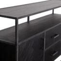 Eleonora Dressoir 'Hudson' 160cm, Acaciahout en metaal, kleur zwart