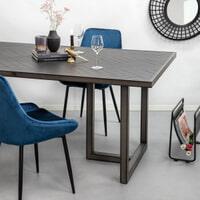 SoHome Eettafel 'Skyler' 240 x 100cm, Acaciahout en metaal, kleur zwart