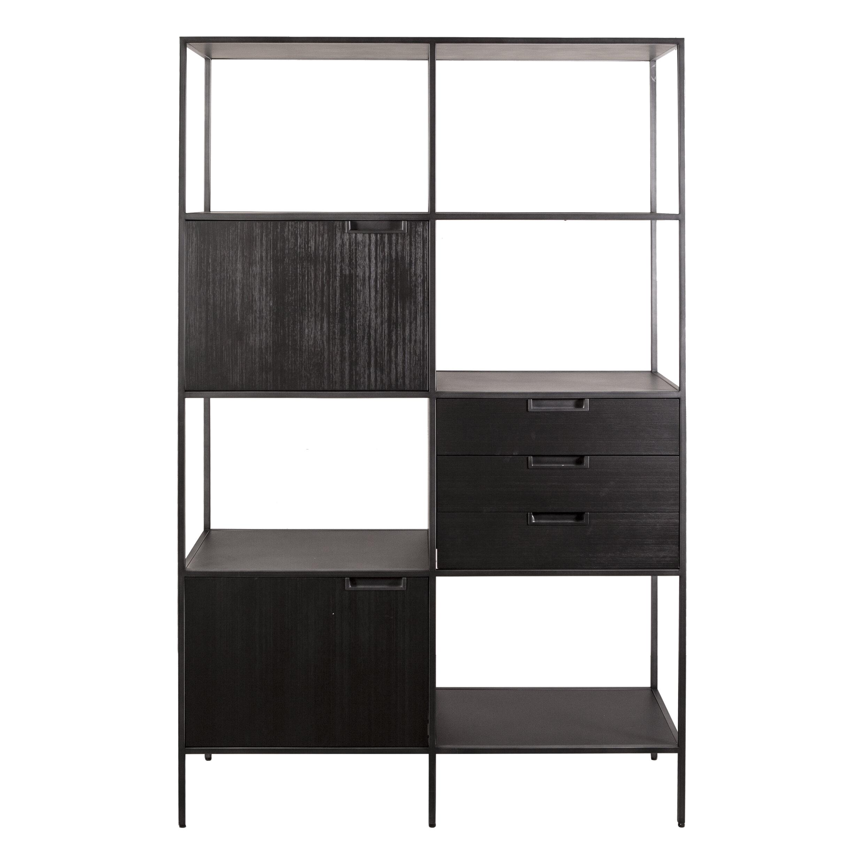 Eleonora Wandkast 'Madison' 116 x 190cm, kleur zwart