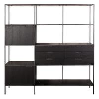 Eleonora Wandkast 'Madison' 180 x 190cm, kleur zwart