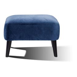 Artistiq Poef 'Katrin' Velvet, kleur blauw