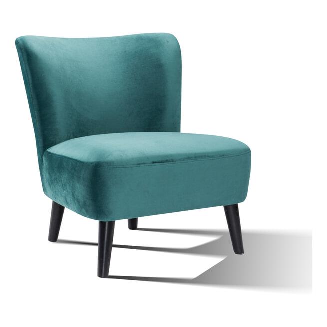 Artistiq Fauteuil 'Katrin' Velvet kleur groen