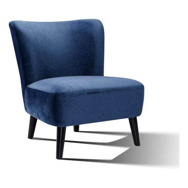 Artistiq Fauteuil 'Katrin' Velvet kleur blauw