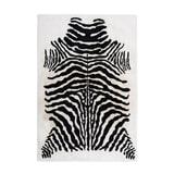 Kayoom Vloerkleed 'Rabbit Animal' kleur zwart / wit, 120 x 160cm