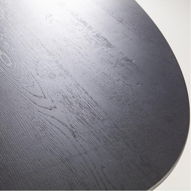Eleonora Ovale Eettafel 'Hamilton' kleur zwart