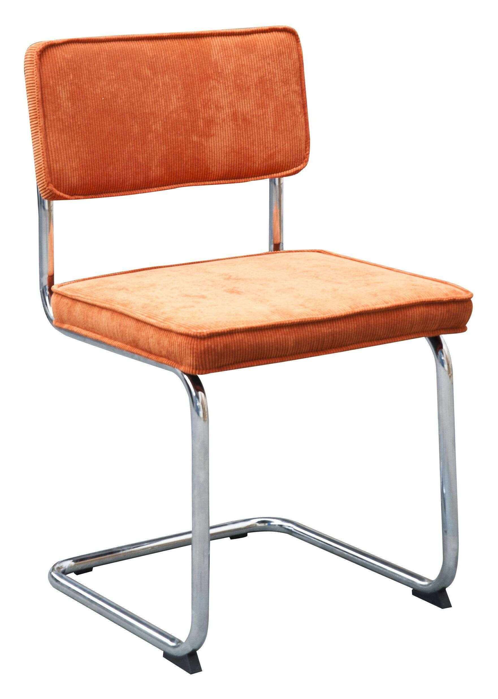 Eetkamerstoel 'Albufera' Rib buisframe, kleur oranje
