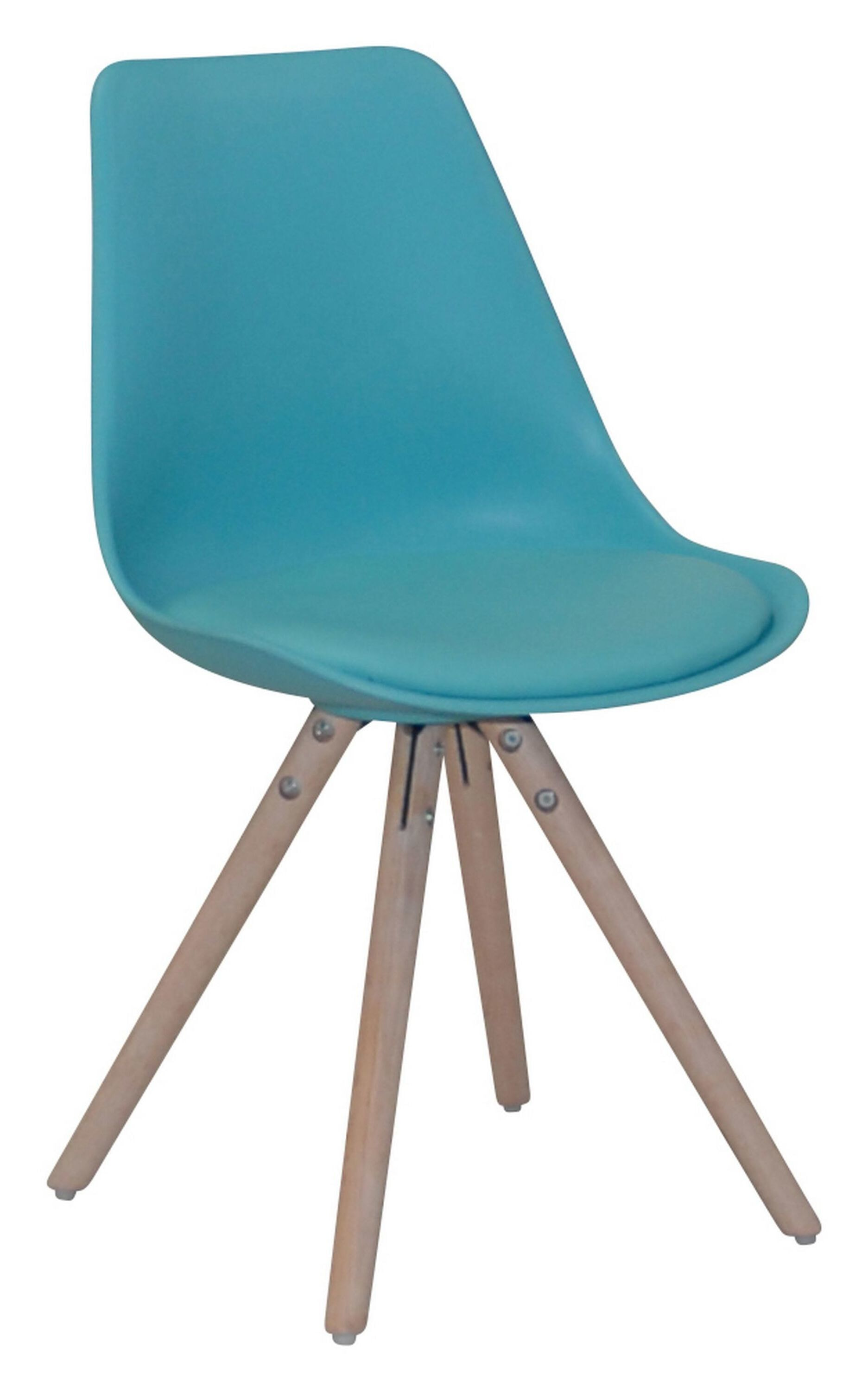 Eetkamerstoel 'Albacete', kleur turquoise