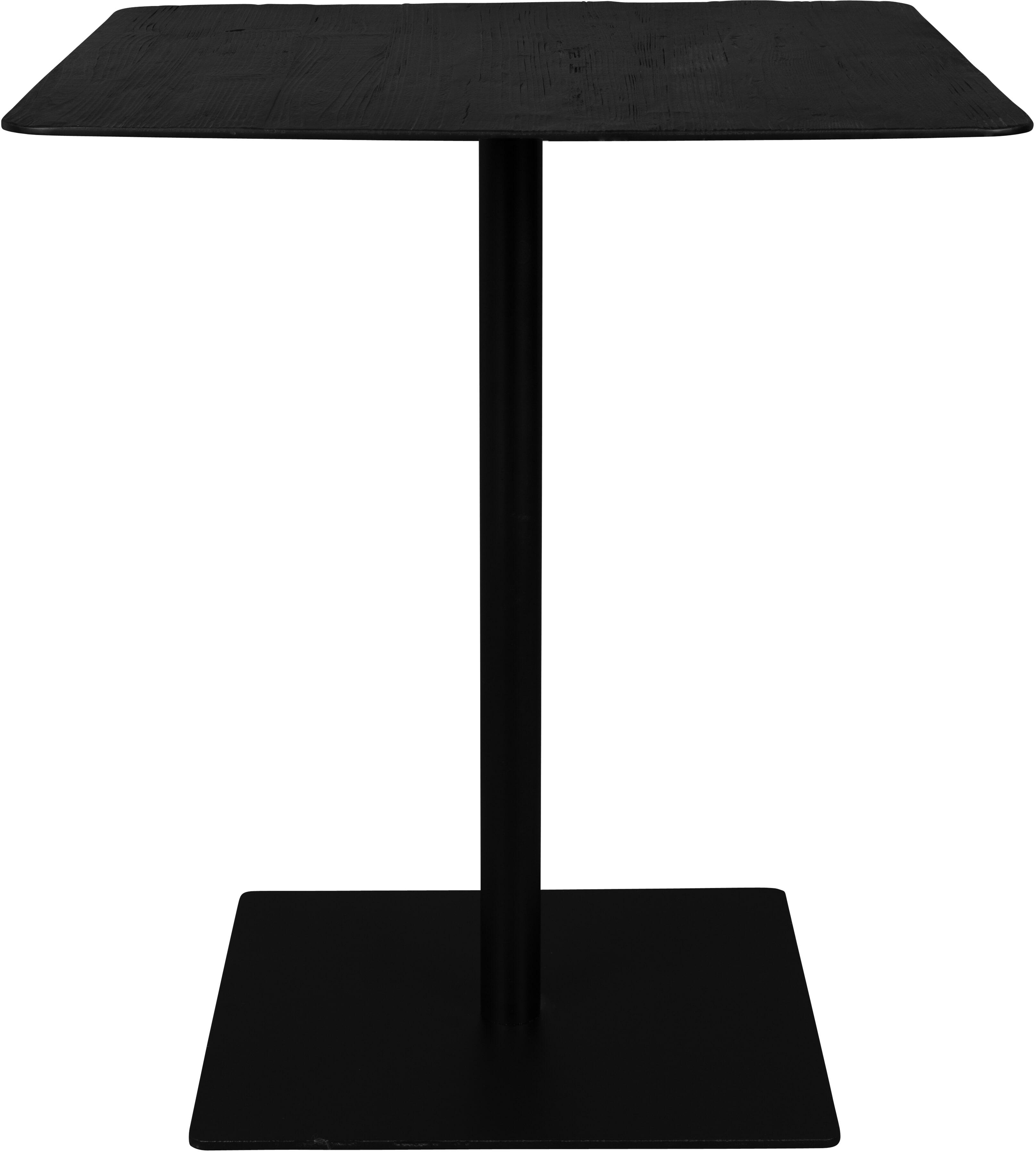 Dutchbone Vierkante Bartafel 'Braza' 70 x 70cm, kleur Zwart