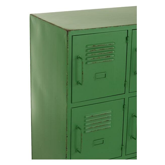 J-Line Lockerkast 'Reinhilde' 9 deuren, kleur Groen