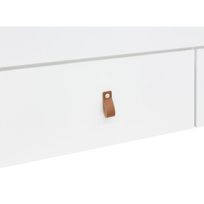Bopita Bedbank 'Indy' 90 x 200cm, kleur wit / naturel