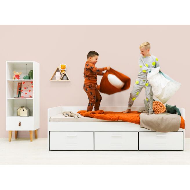 Bopita Bedbank 'Locker' 90 x 200cm, kleur wit