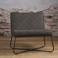 Tower Living fauteuil 'Rodeo' Leder, kleur Danza Stone