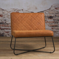 Tower Living fauteuil 'Rodeo' Leder, kleur Danza Rust