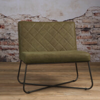 Tower Living fauteuil 'Rodeo' Leder, kleur Danza Olive
