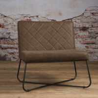 Tower Living fauteuil 'Rodeo' Leder, kleur Danza Taupe
