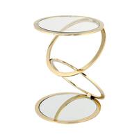 Kayoom Bijzettafel 'Spiraal' 40cm, kleur goud