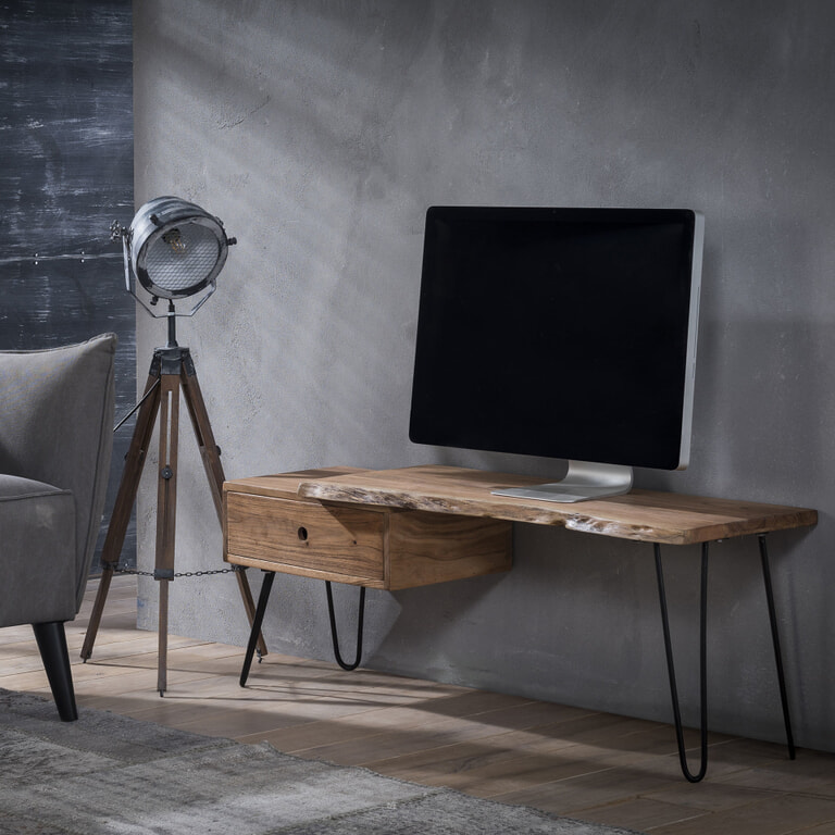 TV-meubel 'Geena', massief acacia 120cm