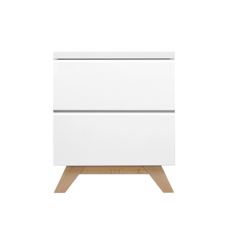 Bopita Nachtkastje 'Lynn' kleur wit / naturel