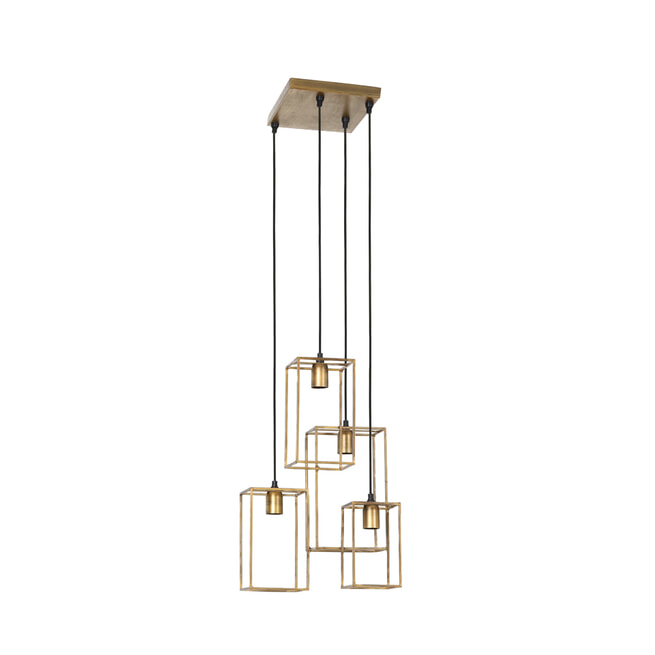 Light & Living Hanglamp 'Marley' 4-Lamps, antiek goud