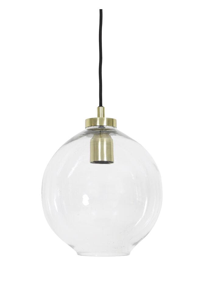 Light & Living Hanglamp 'Jula' 25cm, glas brons